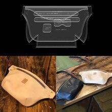 1 zestaw DIY skórzany wykrój do szycia dla Handmade moda torba na klatkę piersiowa torba szablon akrylowy szablon 32*16*5cm