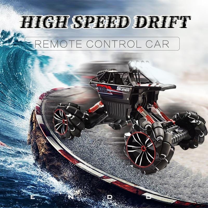 1:12 2.4G RC voiture avec roue Mecanum haute vitesse 4WD dérive escalade télécommande cascadeur voiture déformation tout-terrain véhicule jouet