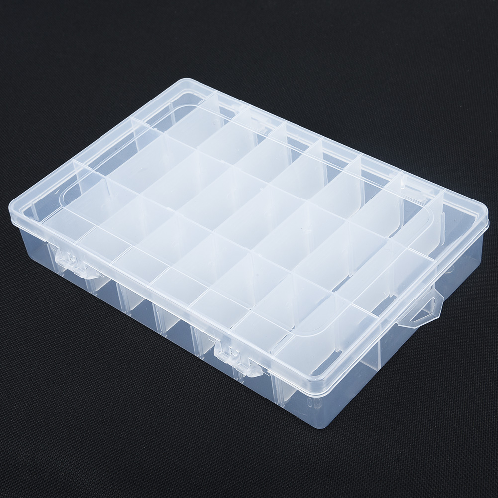 10//15//24 Grids PP Clear Storage Box Case Jewelry Bead Screw Organizer Holder 21