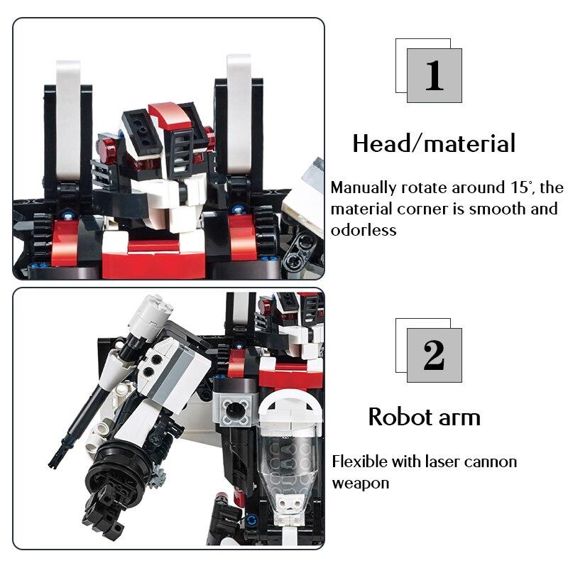 Cada C52008W 2in1 Remote Control Deformation Robot Building Blocks