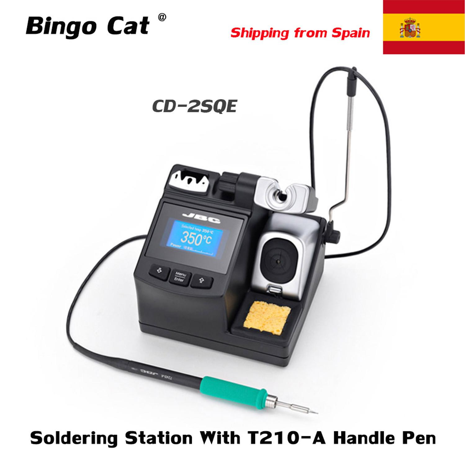 Original JBC CD-2SQE Soldering Station Precision Equipment With T210-A Handle Pen For Mobile Phone Motherboard Repair Tool