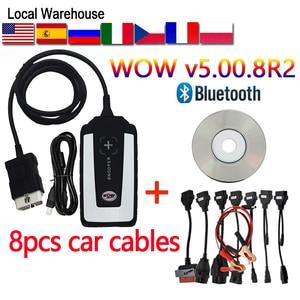 TCS CDP pro plus 2020 new v5.008 R2 WOW Bluetooth delphis obd2 scanner tools VD DS150E CDP Diagnostic tool Cars Trucks