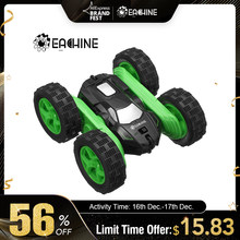 Eachine EC02 RC Car 2.4G 4WD Stunt Drift Deformation Buggy Roll Car 360 Degree Flip Robot Vehicle Models High Speed Rock Crawler(China)