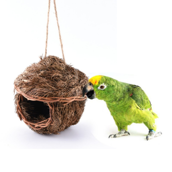 Bird Cage Accessories Decoration Hand Weave Bird House Parrot Hanging Swing Toys Ecology Nest 1