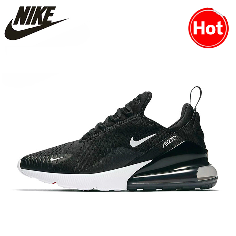 Nike AIR MAX 270 Unisex Running Shoes Black Non-slip Wear-resisting Lightweight Sport Lifestyle Max Air Sneakers Store Hot