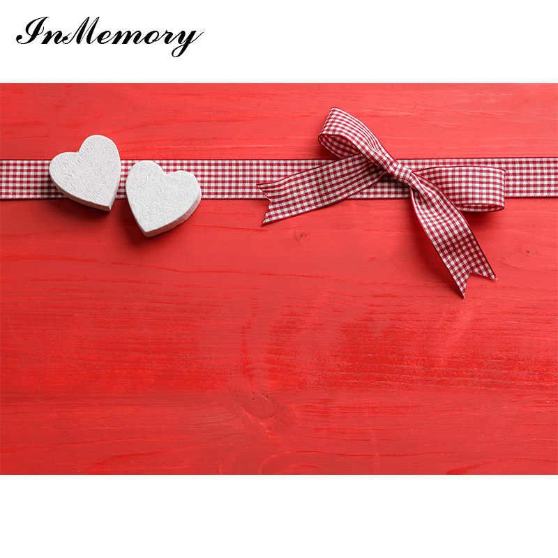 Fondo de fotografía para estudio fotográfico de 14 de febrero en memoria rojo amor corazón Bokeh Día de San Valentín