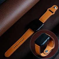 Strap für apple watch Band 44 mm apple watch 5 4 3 2 iwatch band 42mm correa 38 mm 40mm leder armband pulseira armband gürtel