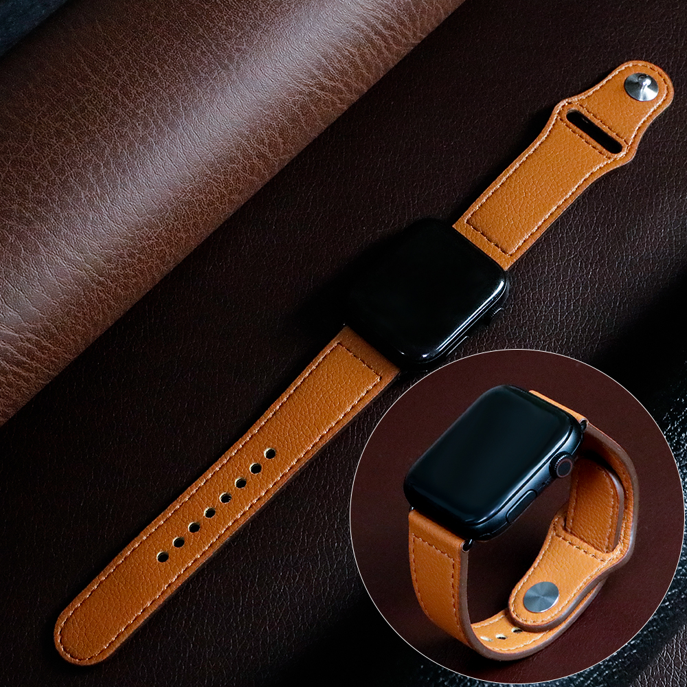 Strap For Apple Watch Band 44 Mm Apple Watch 5 4 3 2 Iwatch Band 42mm Correa 38 Mm 40mm Leather Bracelet Pulseira Watchband Belt