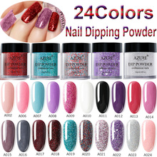 Azure Beauty Dipping Powder Gradient Color Nail Dip Powder Decorations 24 Colors Nail Glitter Powder Dipping Glitter Decorations