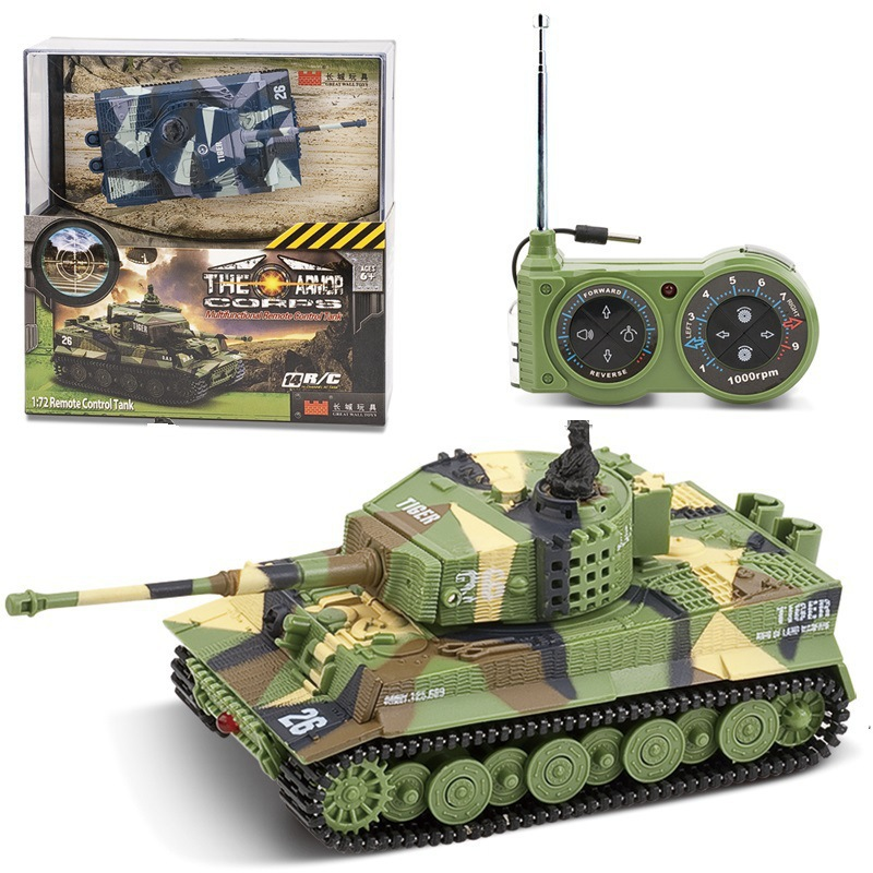 Mini Remote Control Tank Great Wall Rotatable Battery-Accelerated Military Model Electric CHILDREN'S Toy