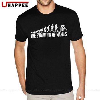 Oversize kolarstwo MAMIL ewolucja Mamils MTB Mountain Bike Biker koszulka Homme fajne szorty rękawy O wysoki dekolt jakości T shirt