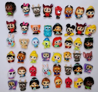 15pcs different Disney Doorables Princess Dolls Series 1 & 2 Cartoon Monsters Toy MINI SIZE Rare Collection No Dups Gift Kids 1