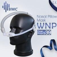 BMC WNP носовая Подушка CPAP маска силиконовый гель SML Размер Подушка все в медицине маска для сна для храпа и лечения апноэ с поясом