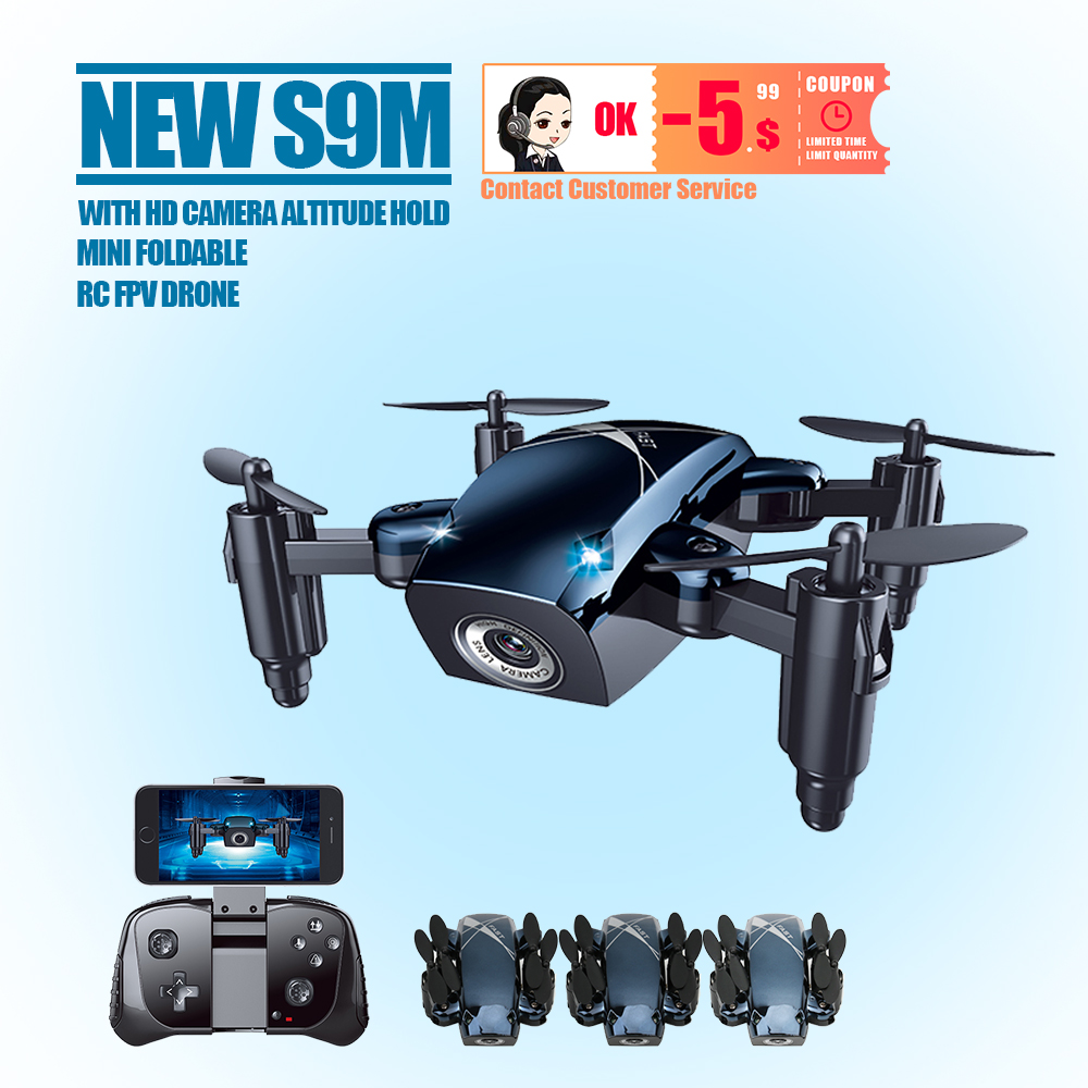 S9HW Mini Drone With Camera S9 No  Foldable RC Helicopter Altitude Hold  Quadcopter WiFi FPV Micro Pocket Dron Boy Toys