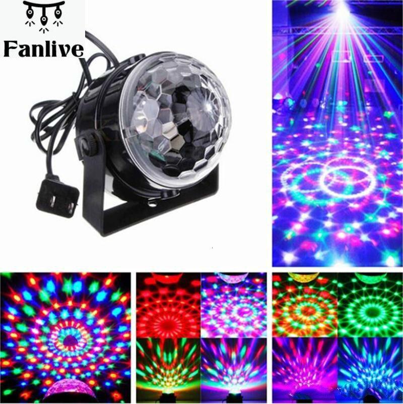 20 stücke Voice Control RGB LED Bühne Lampen Kristall Magic Ball Sound Control Laser Bühne Wirkung Licht Party Disco Club DJ Licht