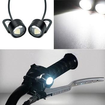 2x Motorcycle Spot Fog Light Headlight Waterproof 3 SMD LED Front Head Lamp 12V