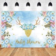 Тканевые фоны yeele с изображением голубого оленя для портретной