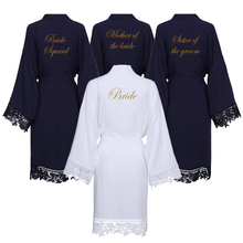 YUXINBRIDAL Trim ผู้หญิงงานแต่งงานเจ้าสาว สั้นเข็มขัดเสื้อคลุมอาบน้ำชุดนอนใหม่