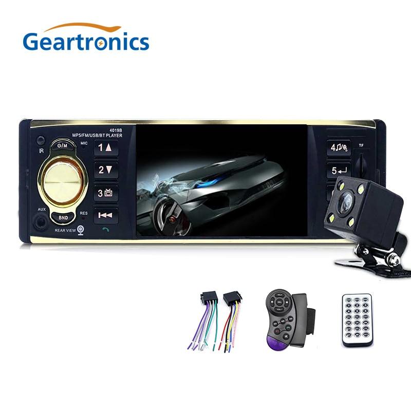4019B 4.1 Inch 1 One Din Car Radio Audio Stereo AUX FM Radio Station Bluetooth Autoradio Support Rearview Camera Remote Control