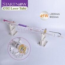 CO2 Стекло лазерная трубка 45 W 800 мм Dia.50 лазерной лампы для лазерной прорезной сегмент гравировка маркер детали машины для резки двойной посылка