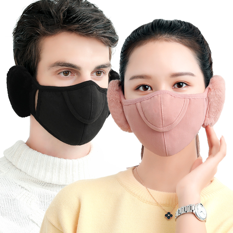 1Pcs New Winter Warm Mouth Mask Men Women Outdoor Riding Protective Opening Breathable Face Mask Fabric Respirator Dust