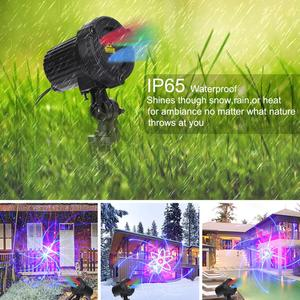 Image 3 - RGB shower outdoor Move Stars Laser lamp Remote Christmas lights Garden Waterproof IP65 Xmas Holiday Decoration For Home