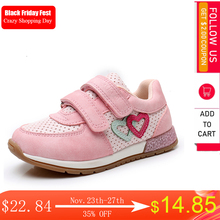 Apakowa בנות נעל נעליים יפה חמוד ילדים עור מפוצל עם לב שתוקנה של וו ולולאה בנות Sneaker האיחוד האירופי 22 27