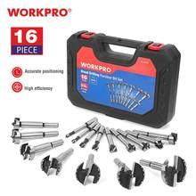WORKPRO 16PC Forstner forets ensemble 6mm-50mm forets à bois 40CR acier outils de travail du bois trou scie foret ensemble