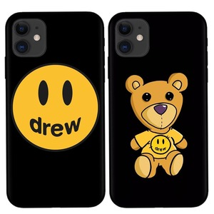 Luxury brand Justin Bieber drew house Soft silicone cover case for iphone 6 7 8 8plus X XR XS Max 11 Pro Smiley face phone coque(China)