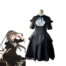 Puella Magi Madoka Magica Akemi Homura Cosplay Costume Daily Black Dress Halloween Chrismas Carnival Anime Party Outfits(China)