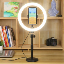 Selfie Ring Light 10 inch LED Dimmable Video Studio Photography Lighting Portable For Youtube Vlog Live Photo With Tripod