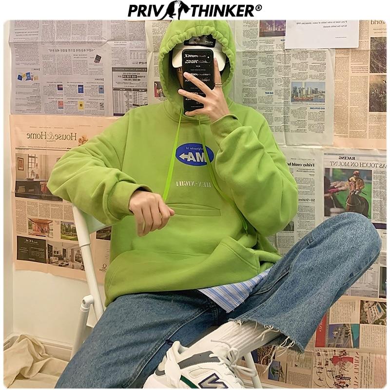 Privathinker Men's Printed Spring Japan Sweatshirt Men 2020 Fashion Korean Hooded Sweatshirt Male Collage Streetwear Hoodies