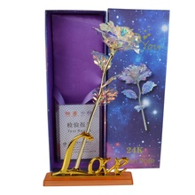 New Star Gold Foil Rose Creative Gift Home Garden Decoration Crafts Figurines Miniatures