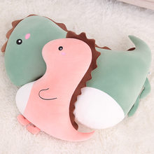 New Style Cartoon COUPLE'S Dinosaur Doll down Cotton Software Flat Dinosaur Pillow Bed zhang tiao zhen Pacify Doll(China)