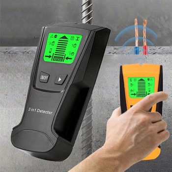 3 In 1 Metal Detector Find Wood Studs AC Voltage Live Wire Detect Wall Scanner Electric Box Finder