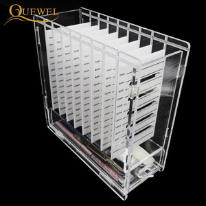 Image 5 - Eyelash Glue Glass Holder with Box 8 pieces Eyelashes Stand Extension Pallets  Individual Lashes For Makeup Tool Quewel