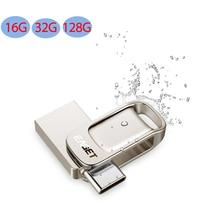 EAGET CU31 USB Flash Drive High Speed Metall USB 3,0 Typ-C Dual-zweck U Disk für Typ-C Smart Telefon PC Laptop 32/64/128GB