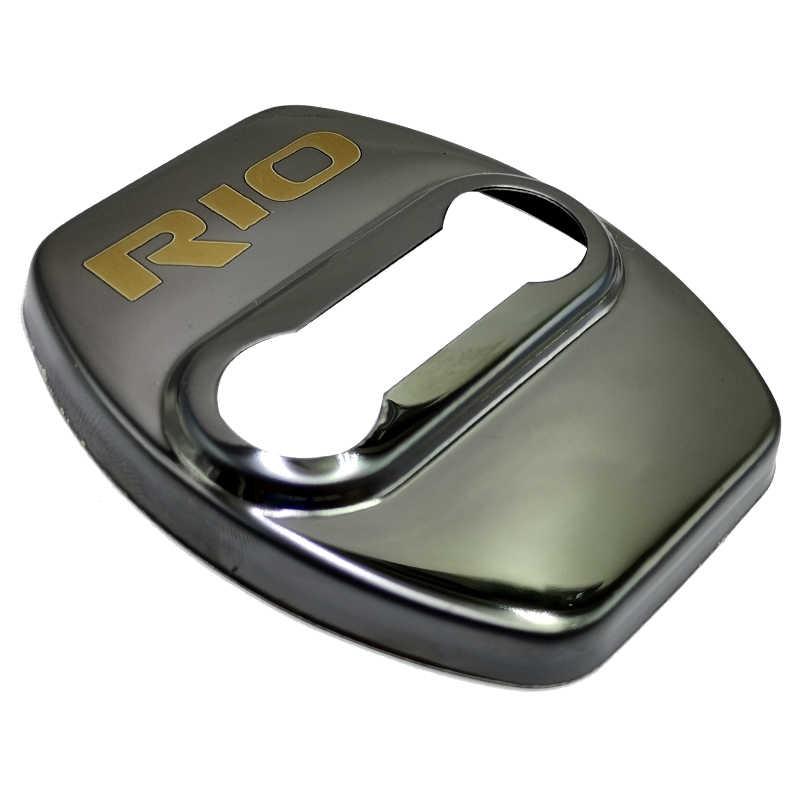 FLYJ 4pcs 자동차 도어 잠금 커버 보호 버클 자동차 액세서리 인테리어 기아 리오 2 3 4 5 Xline x 라인 자동차 스티커