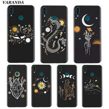 Art Zon Bloemen Kat Snake Maan Case voor Huawei Y9 Y7 Y6 Y5 Prime 2019 Honor 10i 20Lite 20S Siliconen Coque Telefoon Shell Cover Fall(China)