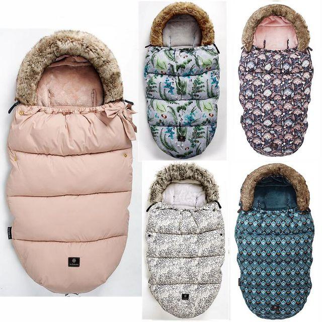 תינוק עגלת שק שינה חורף חם Sleepsack Windproof עבור תינוקות כיסא גלגלים מעטפות Footmuff