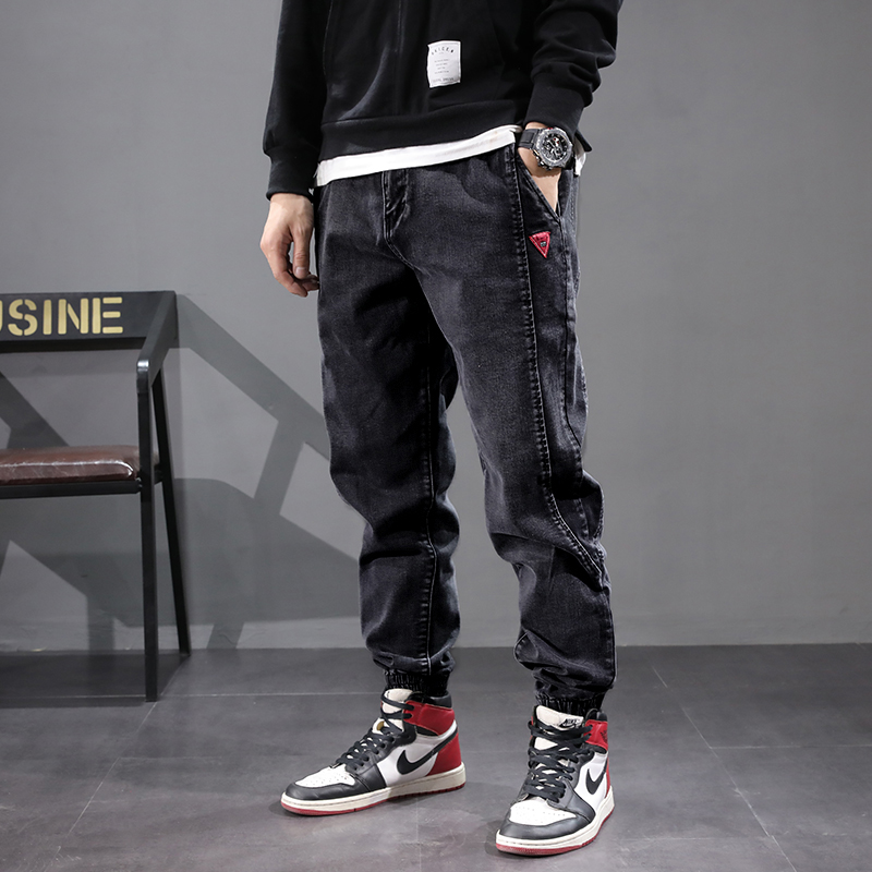 Japanese Style Vintage Men Jeans Spliced Designer Cargo Pants Harem Jeans Streetwear Fashion Hip Hop Jogger Jeans Men Size 28-42