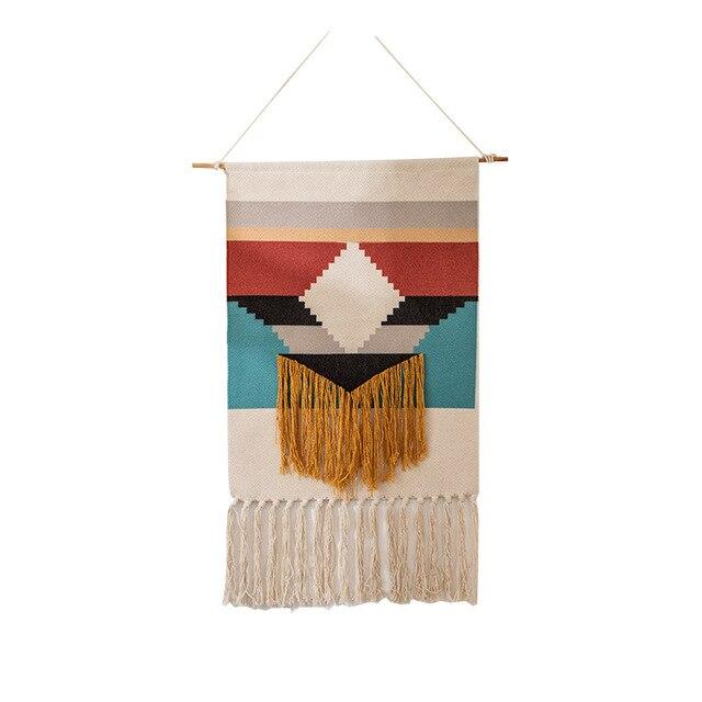 Home Boho Tasseled Tapestry 4