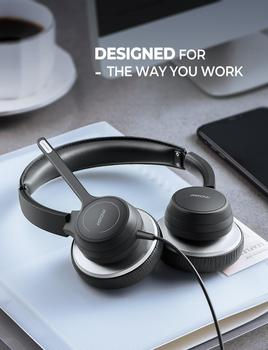 Mpow BH328 Office Headset Lightweight 3.5mm USB Computer Headset Noise Reduction Headphone for Call Center Skype PC Cellphone 6