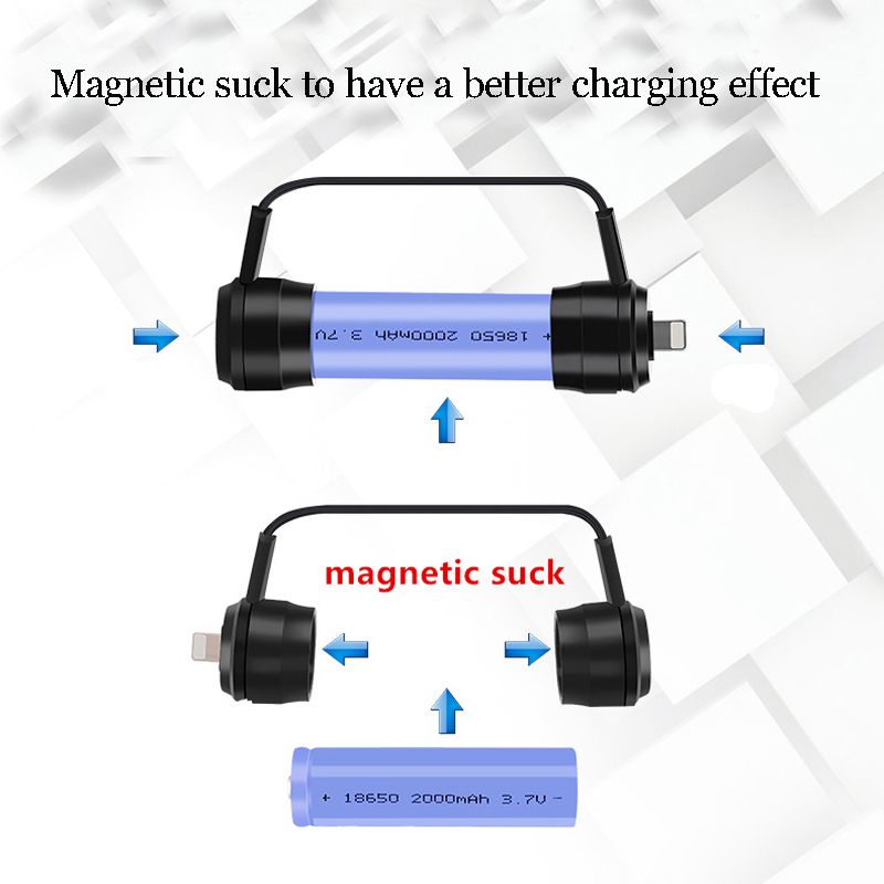 XANES XC01 Mini Magnetic Emergency USB Batteries Charger Portable USB 18650 Battery Charger Powered Bank For Phone Emergency