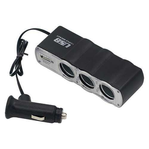 Auto Più Leggero Multi Socket Splitter 3 Way USB Charger Adapter DC 12V Nuovo caldo boutique