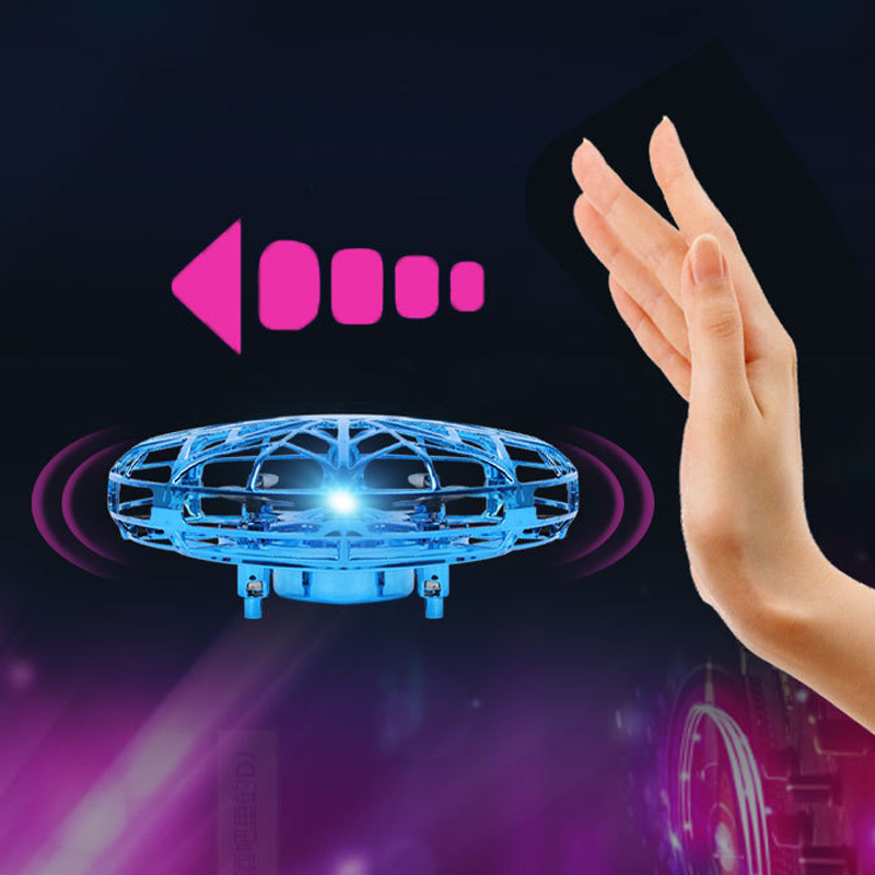 Mini Anticollision Sensor Induction Toys UFO Flying Helicopter Magic Aircraft Drone Electronic Toy For Boys Kids Adult