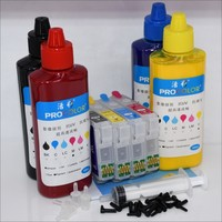 T02W1 502 502XL CISS 잉크젯 카트리지 염료 잉크 리필 키트 엡손 XP-5100 XP-5105 WF-2860 WF-2865DWF 프린터 ARC 칩