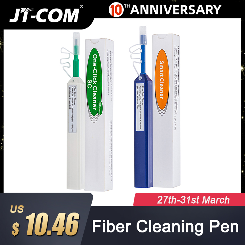 SC One-click Cleaner Fiber Optic Cleaner Connector Cleaning Tool 1.25mm2.5mm Universal Connector Fiber Optic Cleaning Pen