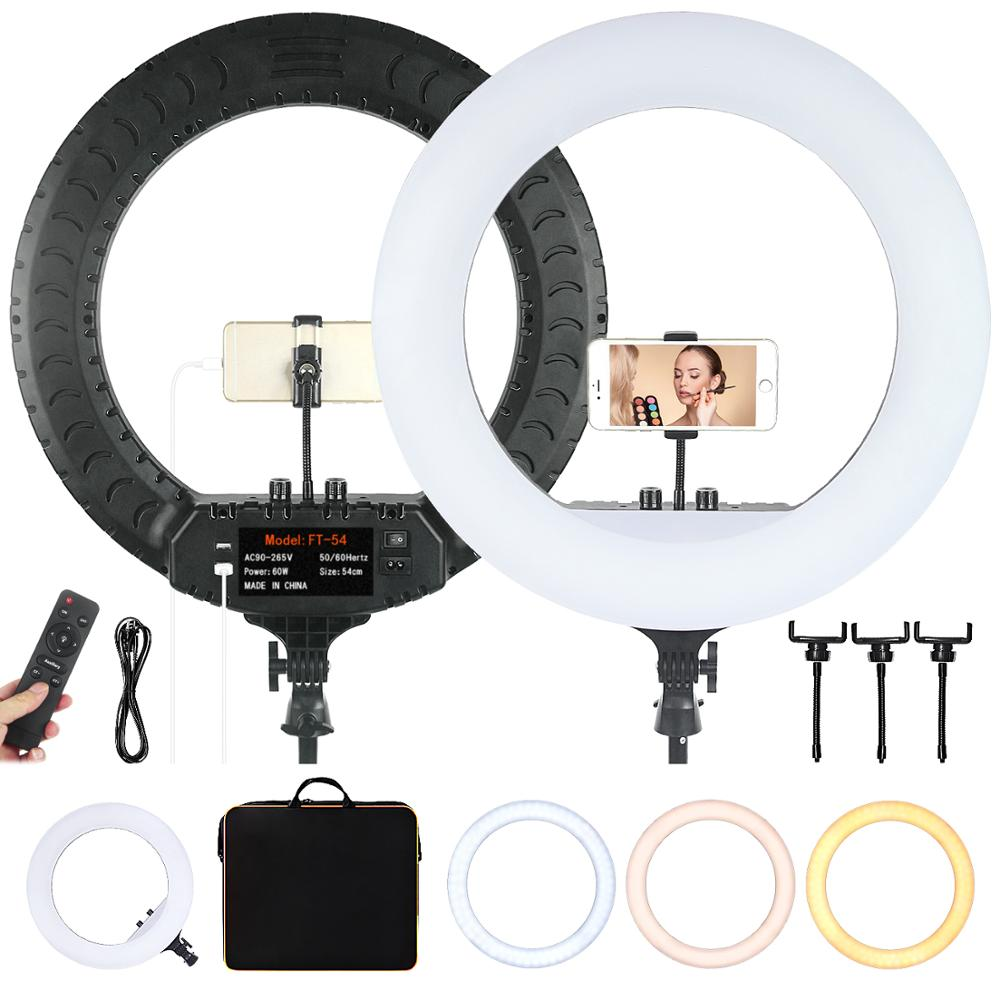 FOSOTO FT-54 21 Inch <font><b>Led</b></font> Ring Light <font><b>2700</b></font> -6500K Photography Lighting Camera Phone Makeup Video Ring Lamp Remote image
