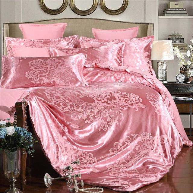 Summer Bedding 4pcs Bedroom Queen Bed Cover Set Polyester Printed Quilt Comfortable Queen Size Quilt Cover Bed Cover Pillowcase 2